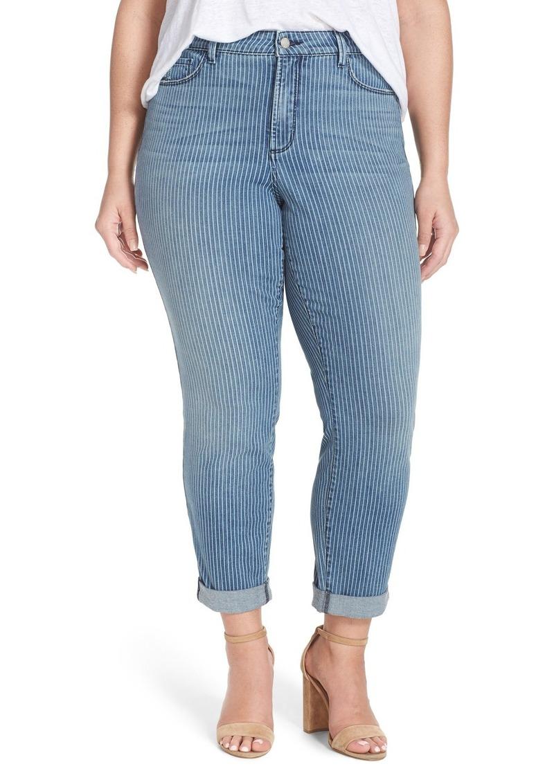 NYDJ 'Sylvia' Stripe Stretch Boyfriend Jeans (Carrolton) (Plus Size)