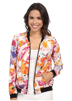 Not Your Daughter's Jeans NYDJ Tropical Floral Print Bomber