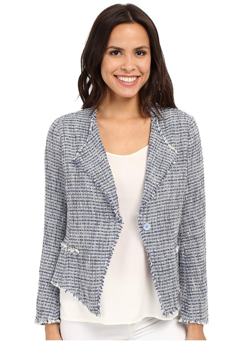 NYDJ Tweed Fringe Jacket