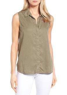 NYDJ Vera Button Back Sleeveless Shirt (Regular & Petite)