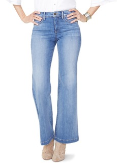 NYDJ Wide Leg Clean Hem Jeans (Clean Cabrillo)