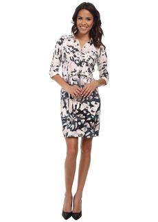 NYDJ Windblown Petal Shirt Dress