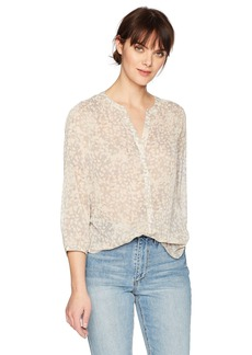 Not Your Daughter's Jeans NYDJ Women's 3/4 Sleeve Crinkle Chiffon Blouse  L