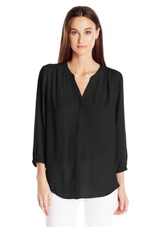 Not Your Daughter's Jeans Nydj Women's 3/4 Sleeve Pintuck Blouse black