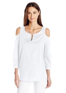 NYDJ Women's Agnes Cold Shoulder Top