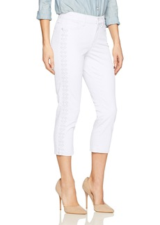 NYDJ Women's Alina Skinny Capri Jeans with Embroidery