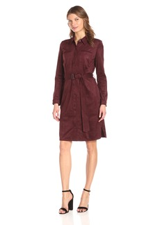 NYDJ Women's Allison Faux Suede Shirt Dress