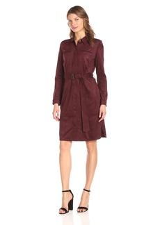 NYDJ Women's Allison Faux Suede Shirt Dress