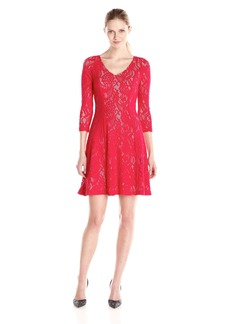 Not Your Daughter's Jeans NYDJ Women's Amelia Lace Fit and Flare Dress With Slimming Fit Solution