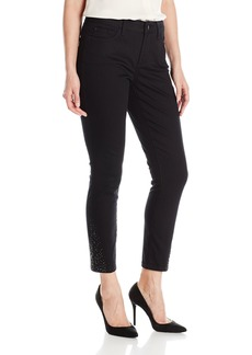Nydj Women's Amira Fitted Ankle Jeans black 8