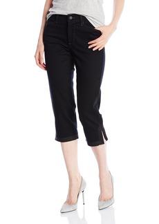 NYDJ Women's Ariel Crop Jeans Black-Constrast Stitch