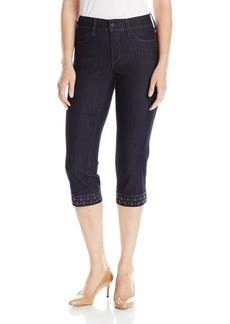 NYDJ Women's Ariel Crop Jeans in Premium Lightweight Denim with Studs