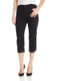 NYDJ Women's Ariel Crop Jeans With Embellished Pocket