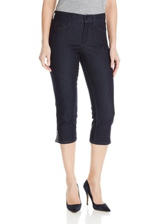 NYDJ Women's Ariel Crop Jeans with Rhinestones
