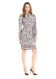 NYDJ Women's Bernadette Paisley Border Shirt Dress