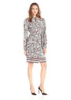 NYDJ Women's Bernadette Paisley Border Shirt Dress