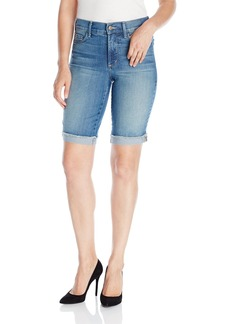NYDJ Women's Briella Roll Cuff Jean Short with Frayed Hem  4