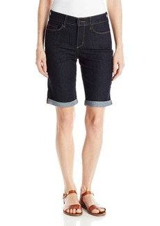 Not Your Daughter's Jeans NYDJ Women's Briella Roll Cuff Jean Shorts In Core Indigo Denim  0