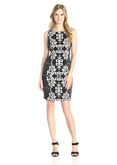NYDJ Women's Candice Textured Printed Shift Dress