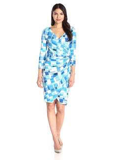 NYDJ Women's Casey Rayon Jersey Faux Wrap Dress with Fit Solution