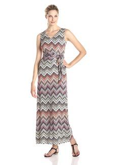 NYDJ Women's Charlene Aztec Chevron Maxi Dress