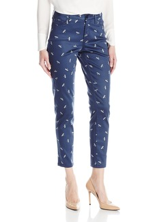 NYDJ Women's Novelty Print Clarissa Skinny Ankle Jeans