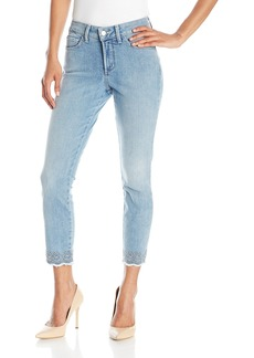 NYDJ Women's Clarissa Ankle Jeans with Embroidered Scallop Hem  18
