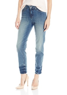 NYDJ Women's Clarissa Ankle Jeans with Released Novelty Hem Treatment