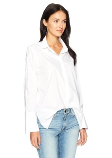 Not Your Daughter's Jeans NYDJ Women's Cotton Poplin Bell Sleeve Blouse
