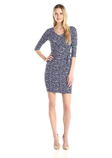 Not Your Daughter's Jeans NYDJ Women's Daniella Printed Jersey Wrap Dress with Slimming Fit Solution