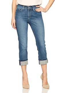 NYDJ Women's Dayla Wide Cuff Capri Jeans Heyburn-Embroidered