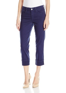 NYDJ Women's Dayla Wide Cuff Capri Jeans in Colored Bull Denim