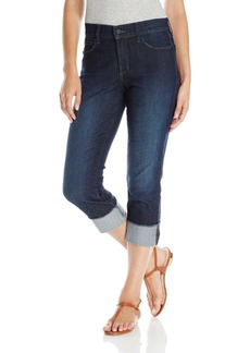 NYDJ Women's Dayla Wide Cuff Capri Jeans with Selvedge Trim