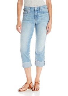 NYDJ Women's Dayla Wide Cuff Capri Jeans With Selvedge Trim