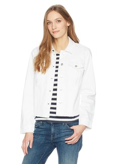Not Your Daughter's Jeans NYDJ Women's Denim Jacket with Fray Hem  M