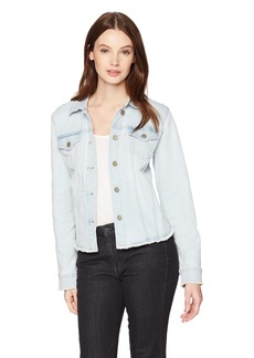 NYDJ Women's Denim Jacket with Fray Hem  S