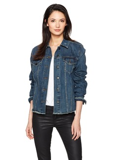 Not Your Daughter's Jeans NYDJ Women's Denim Jacket with Frayed Hem