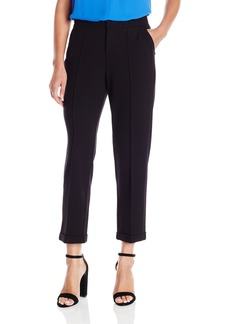 NYDJ Women's Denise Slim Cuffed Ankle Knit Ponte Pants  6