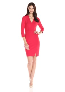 Not Your Daughter's Jeans NYDJ Women's Elsie Stretch Crepe Fitted Sheath Dress with Slimming Fit Solution