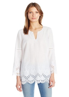 Not Your Daughter's Jeans NYDJ Women's Embroidered Cotton Voile Top
