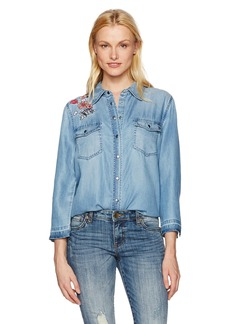 Not Your Daughter's Jeans NYDJ Women's Embroidered Denim Shirt