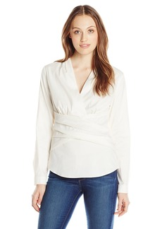 Not Your Daughter's Jeans NYDJ Women's Faux Double Wrap Top with Fit Solution