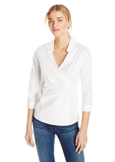 Not Your Daughter's Jeans NYDJ Women's Fit Solution Wrap Blouse  X-Small
