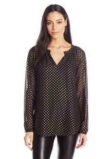 Not Your Daughter's Jeans NYDJ Women's Foil Dot Print Blouse  X-Small
