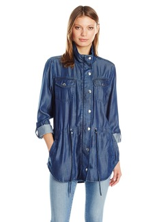 Not Your Daughter's Jeans NYDJ Women's Indigo Tencel Anorak Jacket