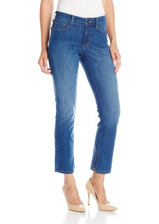 NYDJ Women's Ira Relaxed Ankle Jeans With Inseam Slit  8