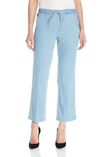 NYDJ Women's Jamie Relaxed Ankle Jeans in Chambray Denim
