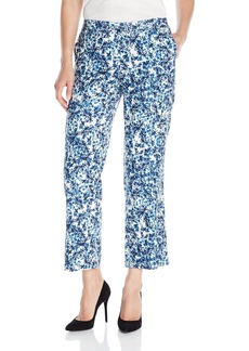 NYDJ Women's Jamie Relaxed Ankle Pants in Novelty Printed Linen