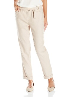 Not Your Daughter's Jeans NYDJ Women's Jasmine Rolled Cuff Ankle Pants in Textured Linen