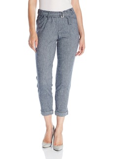 Not Your Daughter's Jeans NYDJ Women's Jasmine Rolled Cuff Ankle Pants in Textured Linen  0